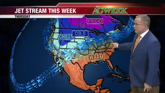 Meteorologist John Wheeler gives this week's agriweather forecast on AgweekTV.