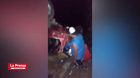 Nuevo accidente en La Virtud Merendón no deja pérdidas humanas