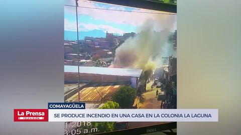 Se produce incendio en una casa en la colonia La Laguna de Comayagüela