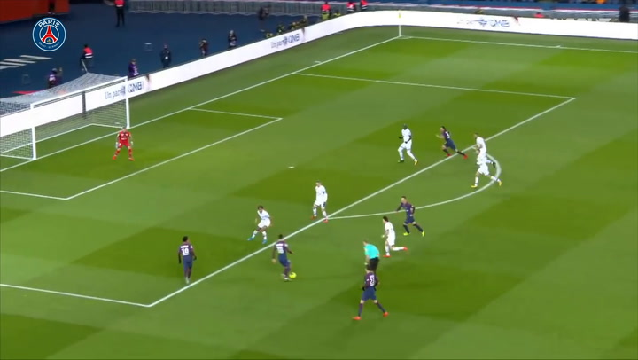 Paris Saint-Germain's eight goals vs Dijon in the 2017-18 season