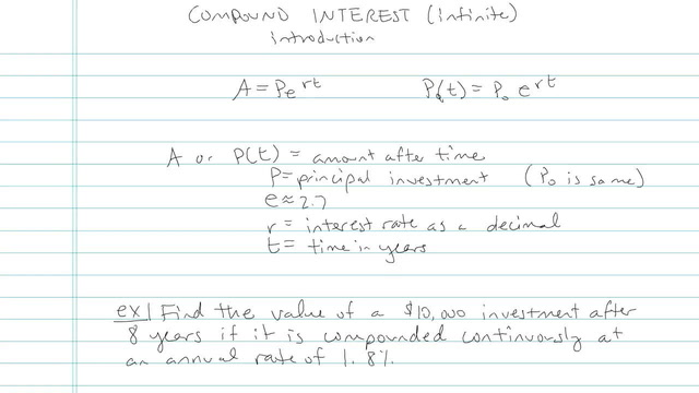 Compound Interest (Continuously) - Problem 4