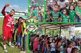 Marathón comparte con los niños celebrando su día en la sede