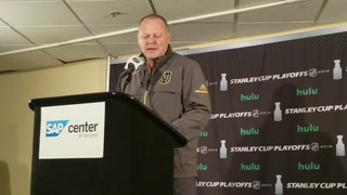 Golden Knights coach Gerard Gallant on holding leads