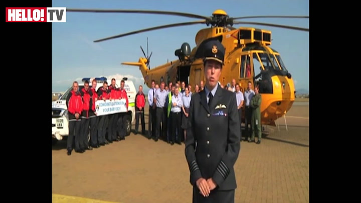 Prince William\'s work colleagues at the RAF congratulate him on the birth of his son