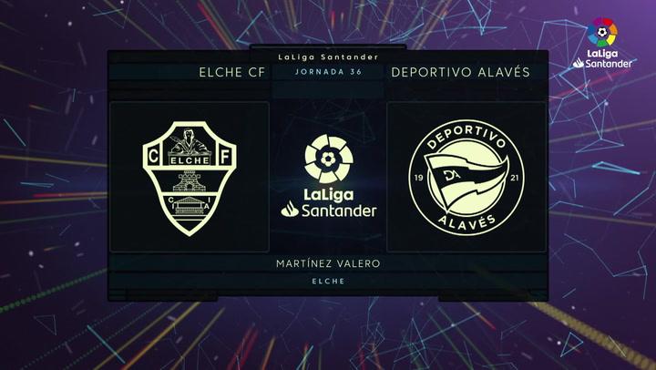 LaLiga Santander (Jornada 36): Elche 0-2 Alavés