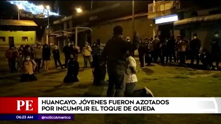 Huancayo: vecinos azotaron a jóvenes que bebían licor en pleno toque de queda
