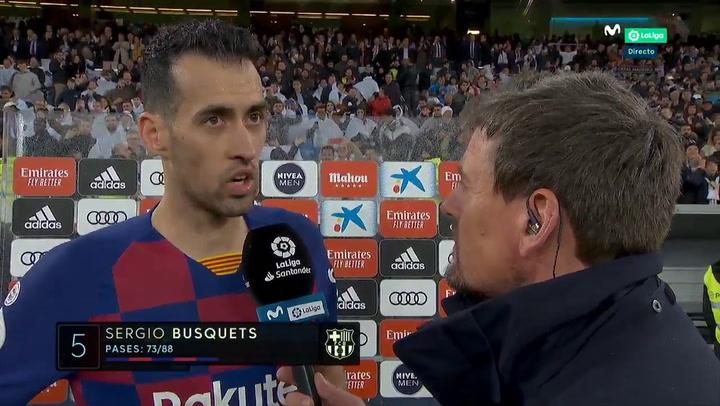 Las declaraciones de Sergio Busquets tras la derrota en el Clásico