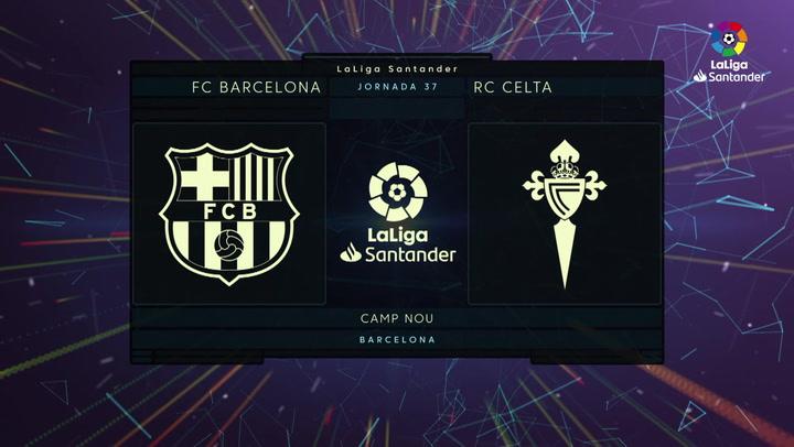 Laliga Santander (J37): Resumen y goles del Barcelona 1-2 Celta