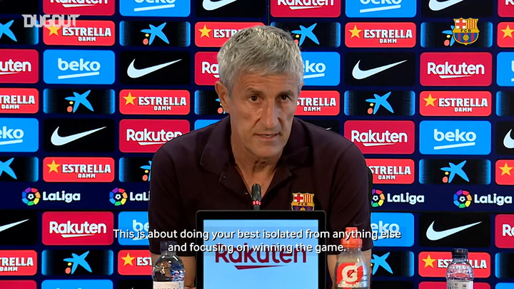 Quique Setién: 'Derby hugely important for the players'
