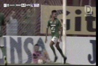 ¡Gol de Marathón! Henry Romero hace el 5-0 ante el H. Progreso