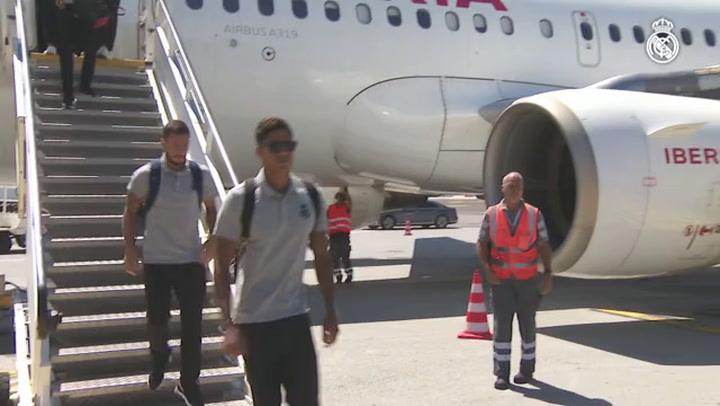 Así fue la llegada del Real Madrid a Roma