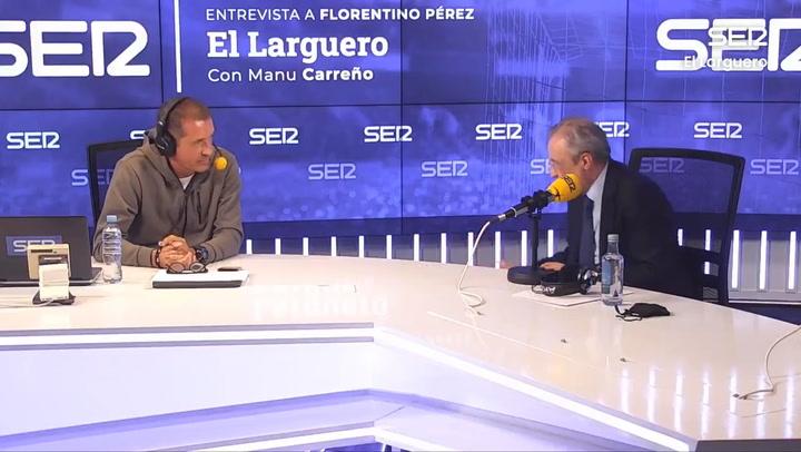 Florentino Pérez sobre la renovación de Sergio Ramos en 'El Larguero'