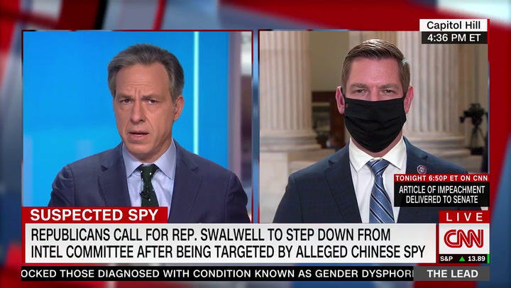 CNN's Tapper Asks Swalwell About Alleged Chinese Spy: 'Can You Clarify How Much Contact You Had?'