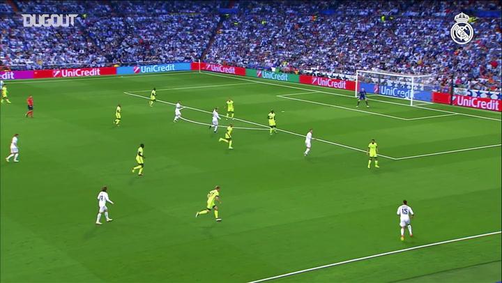Gareth Bale marca contra o Manchester City