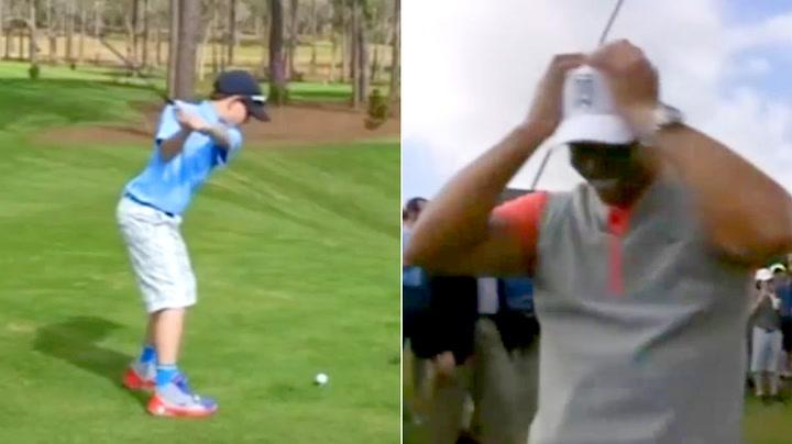 11-åringens utrolige slag sjokkerer golfstjerne