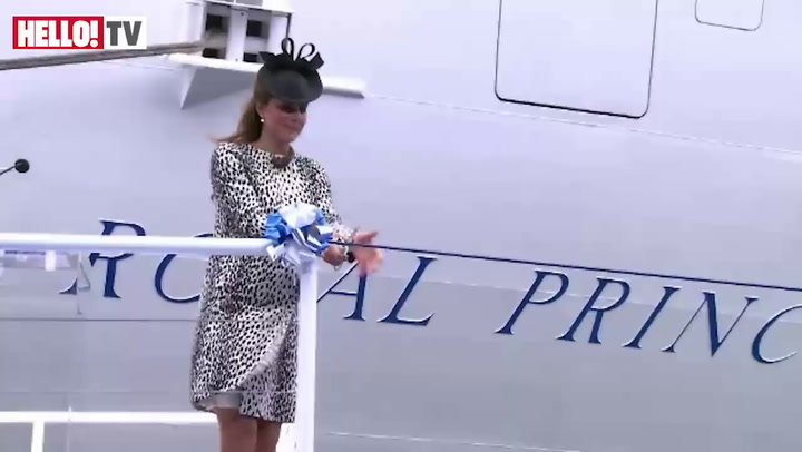 Kate Middleton at the Royal Princess naming ceremony