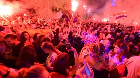 Croacia explota de júbilo tras alcanzar las semis del Mundial