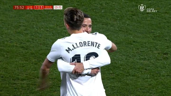 Copa del Rey. Girona-Real Madrid. Gol (1-3) de Marcos Llorente (31/01/2019)