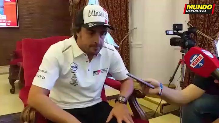 """Alonso: """"Lo mejor que me han dicho es que tengo un par de pelotas muy grandes"""""""
