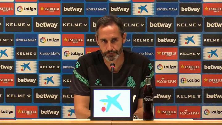 Rueda de prensa de Vicente Moreno, técnico del Espanyol