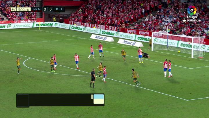 Gol de Rodri (0-1) en el Granada 1-2 Betis