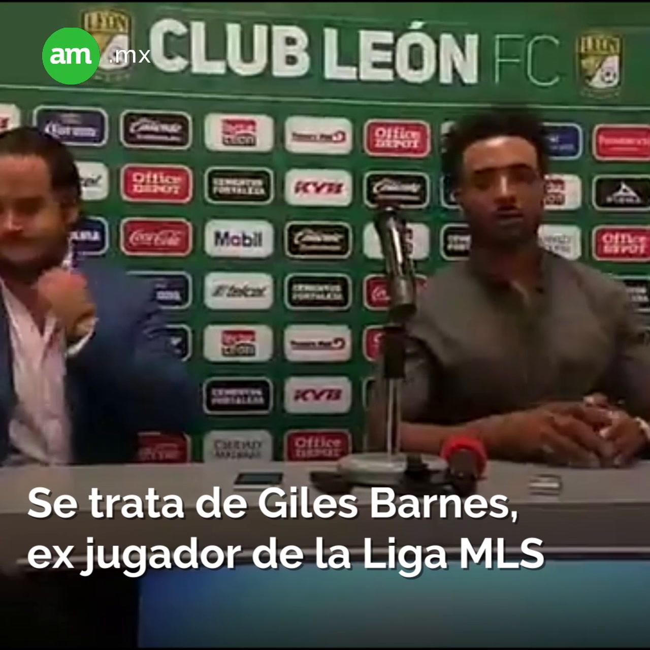 Club León presenta a Giles Barnes
