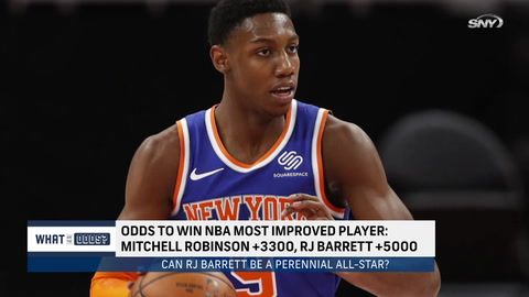 What are the odds on a Knick being the NBA's most improved player in 2021?