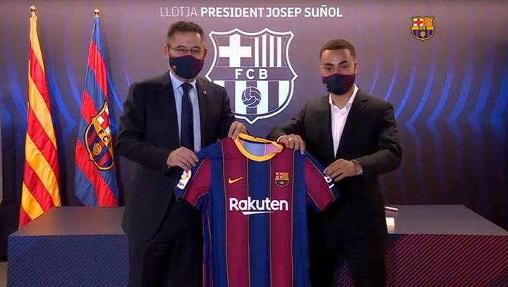 Presentación de Sergiño Dest como nuevo jugador del FC Barcelona