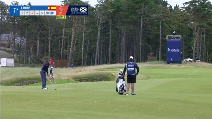Azahara Muñoz, colíder en el Open de Escocia