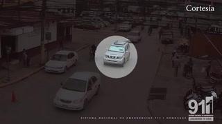 Captan momento en que capturan a jóvenes por robar motocicleta en El Progreso