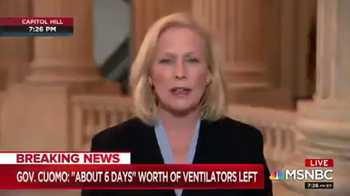 Gillibrand: Trump's 'Unwillingness to Act and Lead' Has 'Put Us Behind by Months'