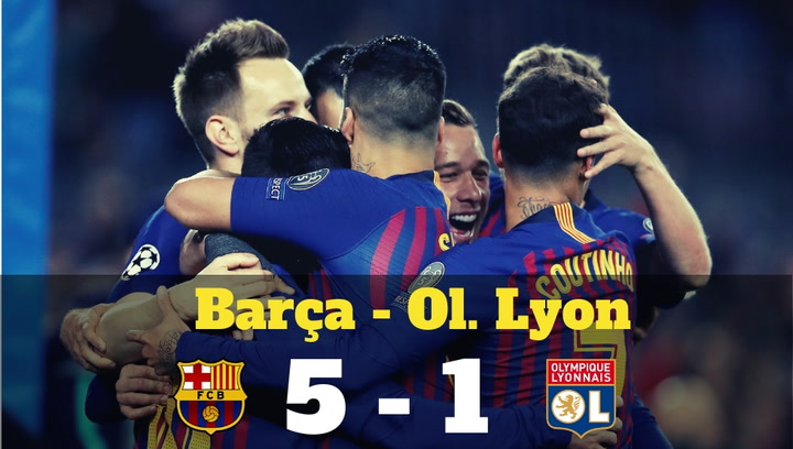 Champions League: Resumen del Barça-Olympique de Lyon (5-1)