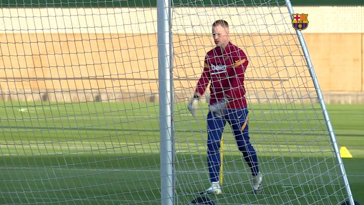 El Barça vuelve a entrenarse tras su victoria ante la Juventus en Champions League