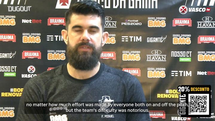 Fernando Miguel praises Vasco's evolution under Ramon's guidance