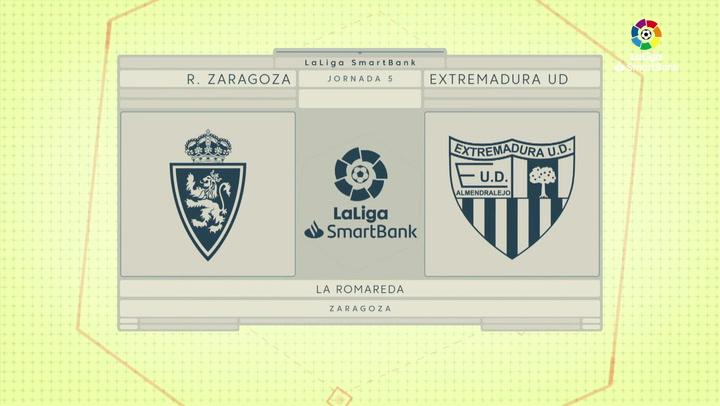 LaLiga SmartBank (J5): Resumen y goles del Zaragoza 3-1 Extremadura