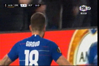 ¡Gol del Chelsea! Giroud anota el 3-0 ante el Slavia Praga en la Europa League