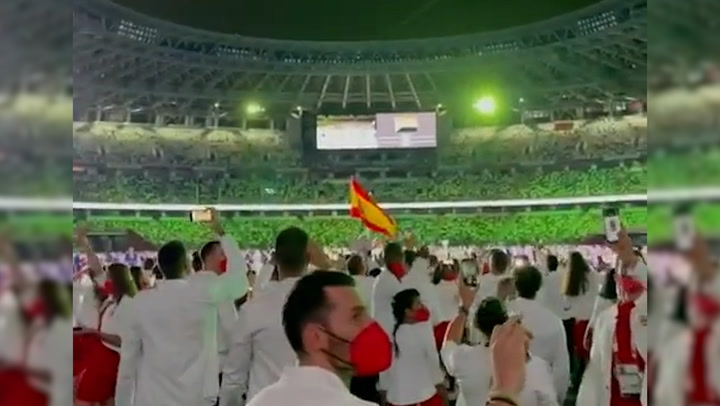 Los olímpicos españoles muestran desde dentro todos los detalles de la gala inaugural de los Juegos de Tokio