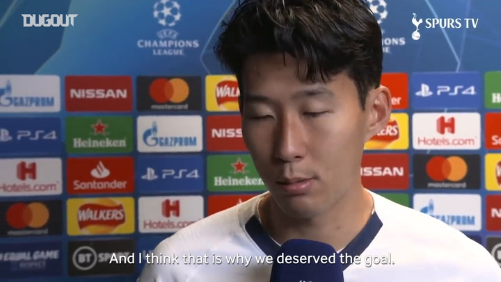 Son Heung-min reacts to 5-0 Red Star victory