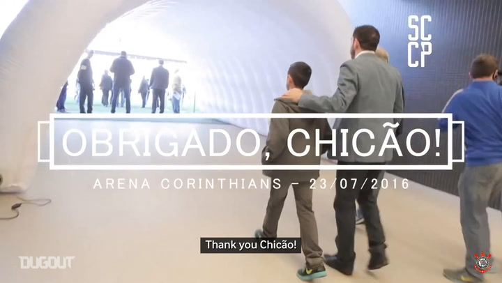 Corinthians' tribute to Chicão