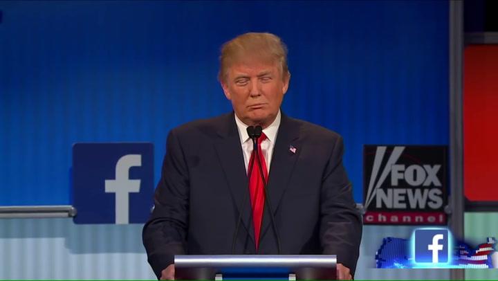Trump en Kelly tijdens het debat