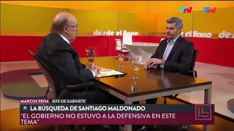 Marcos Peña dijo que Cristina quiere deslegitimar al gobierno por la situación de Maldonado