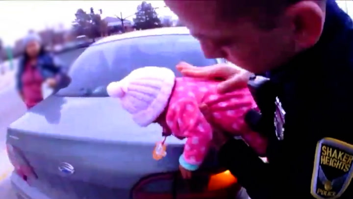 Bilen stoppet foran politiet: – Redd barnet mitt!
