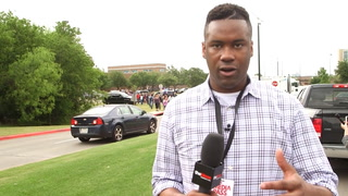 Lawrence Jones interviews witnesses from an active shooter scene in Texas
