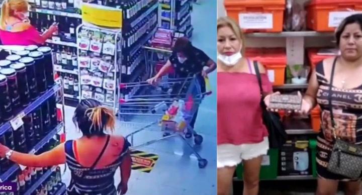 Miraflores: Ladronas se aprovechan de anciana y le roban su billetera en pleno supermercado