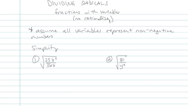 Dividing Radicals and Rationalizing the Denominator - Problem 5