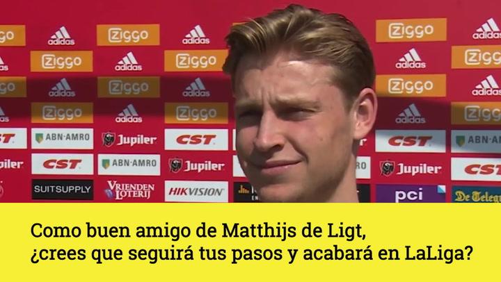 De Jong sobre la posible llegada de Matthijs de Ligt al Barça