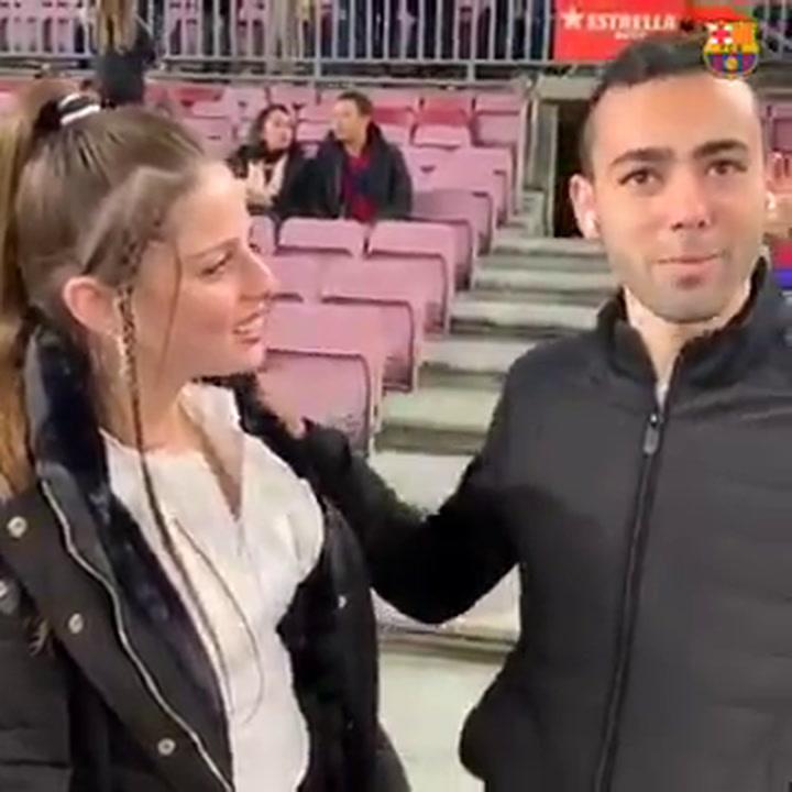 ¡Le pide matrimonio en el Camp Nou!