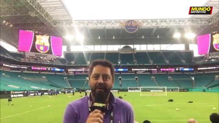 La previa del Barça - Nápoles, desde Miami