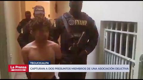 Capturan a dos presuntos miembros de una asociación delictiva