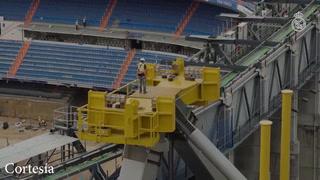 Así van las obras de restauración del estadio Santiago Bernabéu